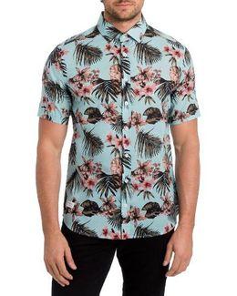 Palapa Funk Print Woven Shirt