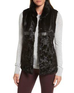 Faux Fur & Faux Leather Vest