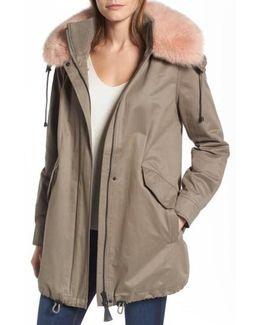 Parka With Genuine Fox Fur Trim
