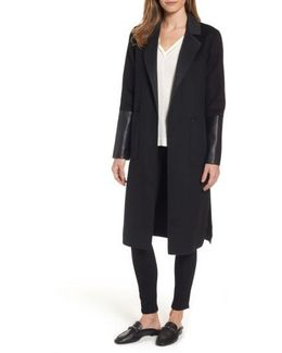 Double Face Wool Blend Duster