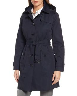 Core Trench Coat With Removable Hood & Liner
