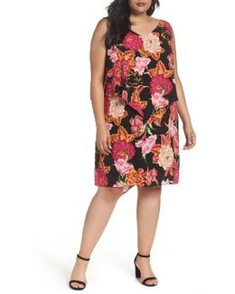Fly Away Tiered Floral Print Shift Dress
