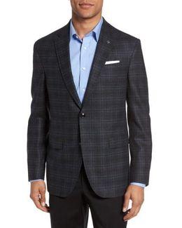 Konan Trim Fit Plaid Wool Sport Coat