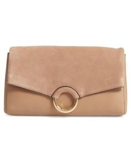 Adiana Leather & Suede Clutch