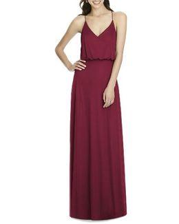 Chiffon Blouson Gown