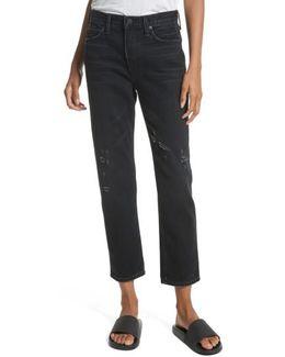 High Waist Vintage Straight Jeans