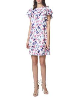 Chiffon Floral Shift Dress