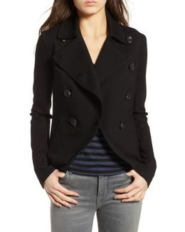 Double Breasted Ponte Jacket