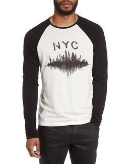 Nyc Graphic Raglan Sleeve T-shirt