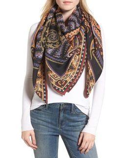 Paisley Wool & Silk Scarf