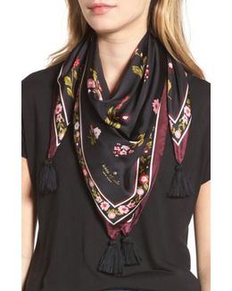 In Bloom Square Silk Scarf