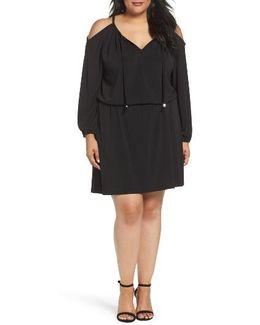 Cold Shoulder A-line Jersey Dress