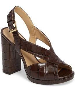 Becky Cross Strap Sandal
