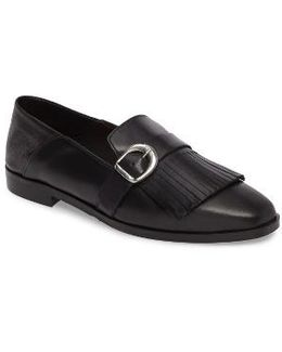 Dame Fringed Loafer Flat