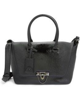 Demilune Top Handle Leather Satchel