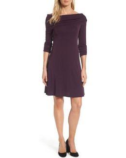 Jackie Drape Neck Jersey Dress