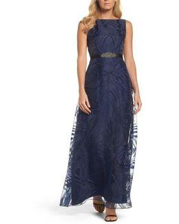 Embellished Burnout Gown
