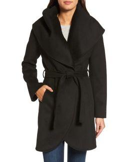 Marla Double Face Wool Blend Wrap Coat