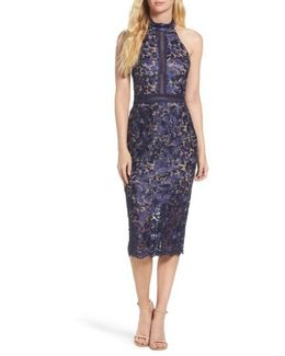 Illusion Lace Sheath Dress