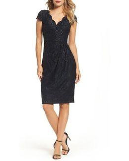 Sequin Lace Sheath Dress