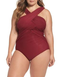 Miraclesuit High Neck One-piece Swimsuit