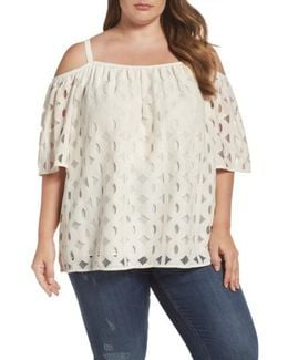Cable Lace Off The Shoulder Top