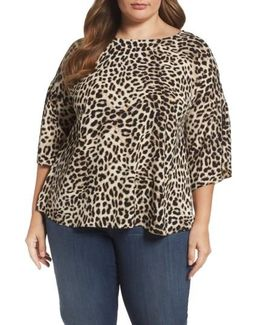 Leopard Song Bell Sleeve Blouse