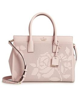 Cameron Street - Candace Perforated Leather Satchel
