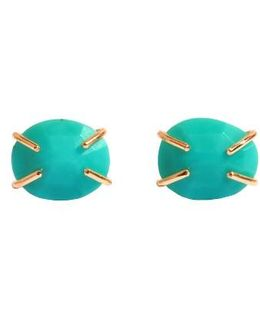 Turquoise Prong Stud Earrings
