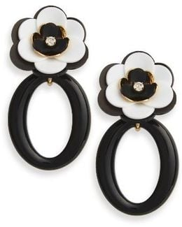 Rosy Posies Statement Drop Earrings