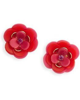 Kate Spade Rosy Posies Statement Stud Earrings