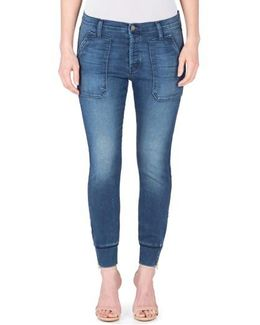 Mikey Ankle Zip Jogger Jeans