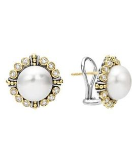 Luna Diamond & Pearl Earrings
