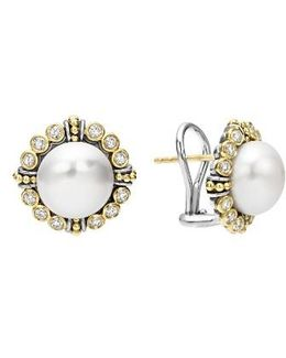 Luna Diamond & Pearl Earrings