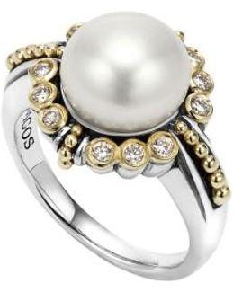 Luna Diamond & Pearl Ring