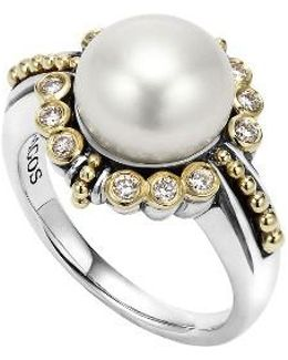 Luna Diamond & Pearl Ring