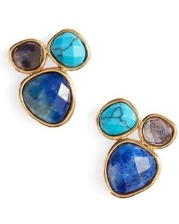 Lola Semiprecious Stone Stud Earrings