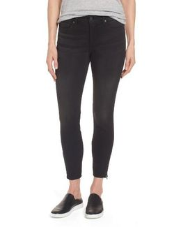 Stretch Zip Ankle Jeans