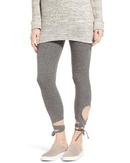 High Rise Wrap Ankle Leggings