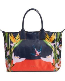 Tropical Oasis Large Tote