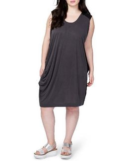 Draped Colorblock Dress