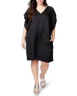 Flutter Sleeve Shift Dress