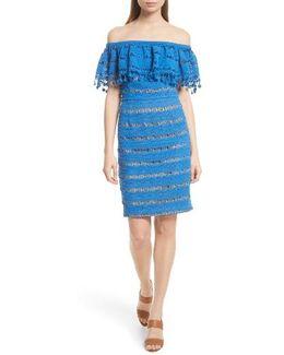 Off The Shoulder Crochet Dress