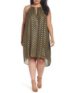 Bergalia Foiled Chain Neck Trapeze Dress