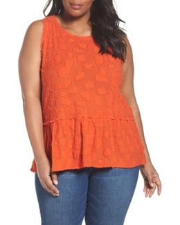Gathered Peplum Tank