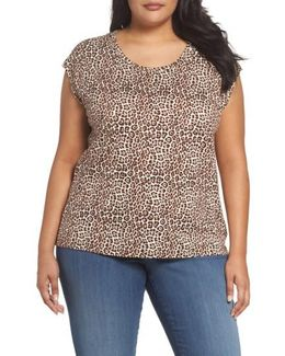 Leopard Print Elliptical Top