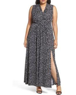 Mini Finy Print Maxi Dress