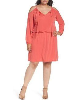 Jersey Cold Shoulder Dress