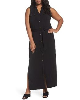 Matte Jersey Maxi Shirtdress