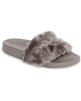 Samantha Faux Fur Slide